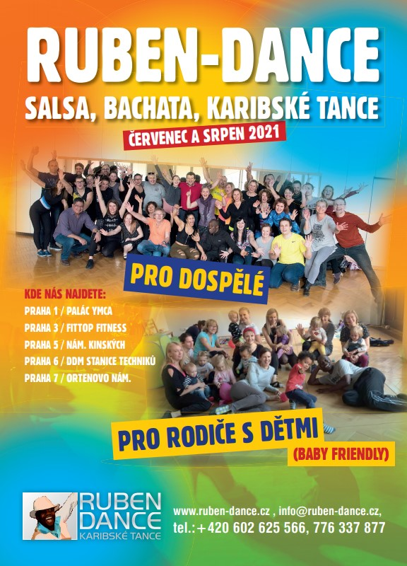 salsa, bachata a karibské tance pro dospělé i rodiče s ruben dance